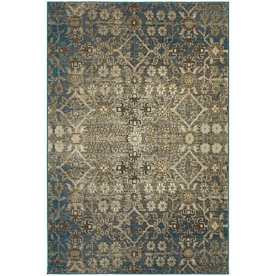 StyleHaven Transitional Distressed Floral Polypropylene 5'3
