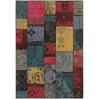 StyleHaven Transitional Overdyed Patchwork Polypropylene 7'10