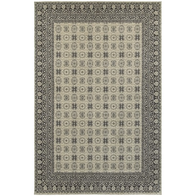StyleHaven Traditional Bordered Medallion Polypropylene 3'10