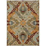 "StyleHaven Transitional Overscale Traditional Nylon/Polypropylene 3'10"" X 5'5"" Beige/Orange Area Rug (WSDN6357A4X6L)"