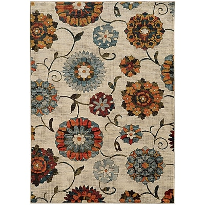 StyleHaven Transitional Largescale Floral Nylon/Polypropylene 7'10