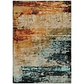 "StyleHaven Contemp Eroded Abstract Nylon/Polypropylene 3'10""X5'5"" Blue/Red Area Rug (WSDN6365A4X6L)"