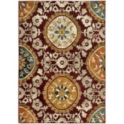 """StyleHaven Floral Medallion Nylon/Polypropylene 5'3""""X7'6"""" Red/Gold Area Rug (WSDN6366A5X8L)"""