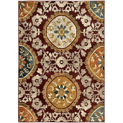 StyleHaven Transitional Floral Medallion Nylon/Polypropylene 7'10