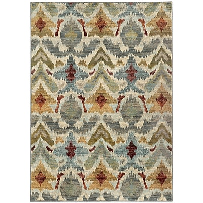 StyleHaven Transitional Tribal Ikat Nylon/Polypropylene 7'10