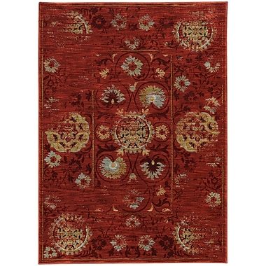 StyleHaven Traditional Distressed Traditional Nylon/Polypropylene 7'10