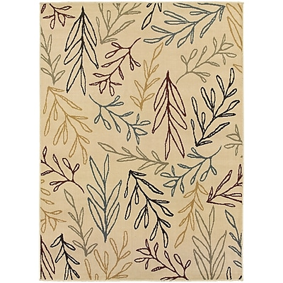 StyleHaven Transitional Botantical Polypropylene 6'7