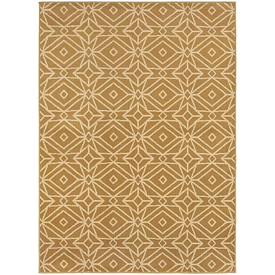 StyleHaven Transitional Diamond Geometric Polypropylene 5'3