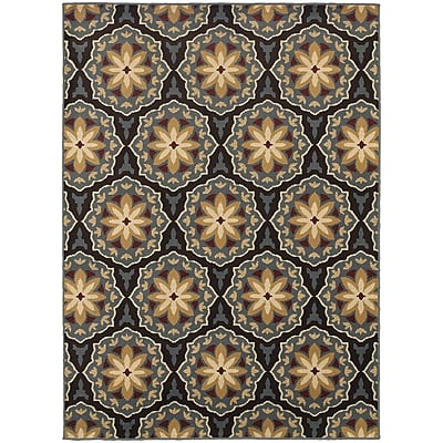 StyleHaven Transitional Floral Panel Polypropylene 7'10