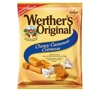 Werther's Original Chewy Caramels Family Bag, 12 pieces/245g, (329728-70)