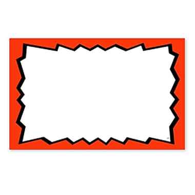 Blank Show Card, Red Boarder, 5.5