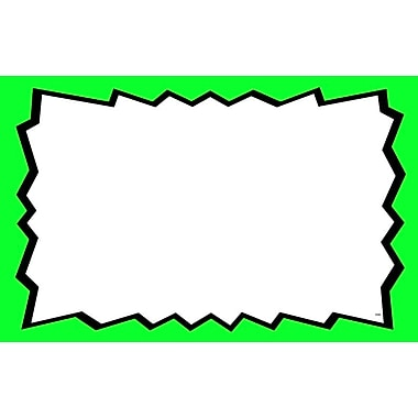 Blank Show Card, Green Boarder, 3.5