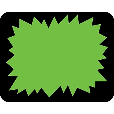 Blank Sticker, Fluorescent Green Starburst Center, 1 3/6