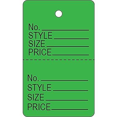 Étiquette de vêtements C, étiquette de vêtements verte, 1 3/16 x 1 15/16 po, 1000/paquet