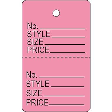 Garment Tag C, Pink Garment Tag, 1 3/16