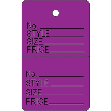 Garment Tag C, Purple Garment Tag, 1 3/16