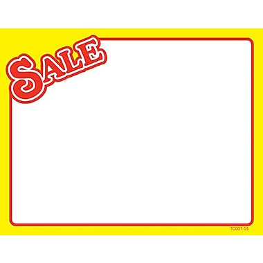 Sale Show Card, Red Text, 3.5