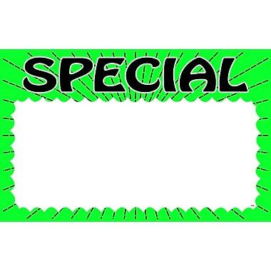 Pancarte «Special», 7 haut. x 11 larg. (po), 100/paquet