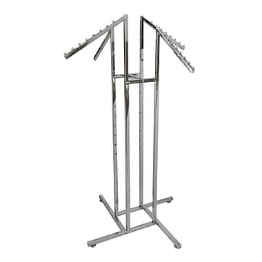 Chrome Four Way Garment Rack, 1