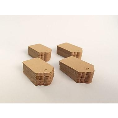Étiquette en papier kraft, 1 1/2 x 3/4 po, 1000/paquet