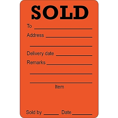 Sold Sticker Large, 2