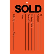 """Sold Tag, 3.5"""" x 5.5"""", 100/Pack"""
