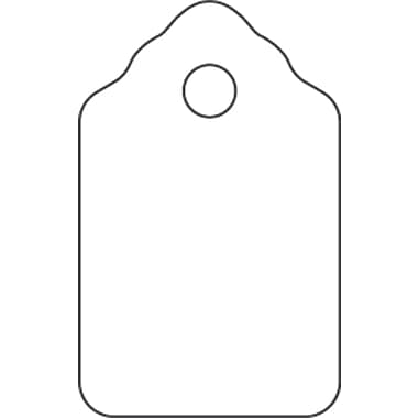 "String Tag, 9/16"" X 1"", 1000/Pack (38-1331)"