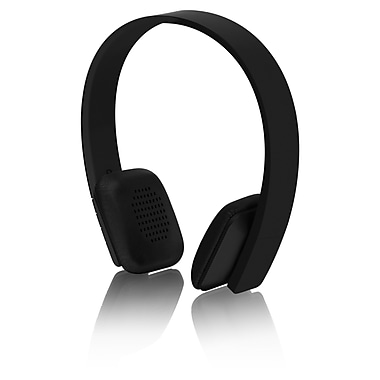 Aluratek Bluetooth Wireless Stereo Headphones with Built-In Battery, Black (ABH04FB)