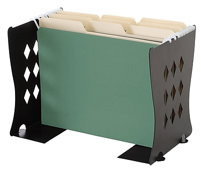 Find It® Bookends/File Folder Stand, Black