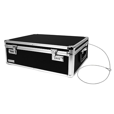 Vaultz Aluminum Locking Storage Chest With Security Cable, Black (VZ00642)