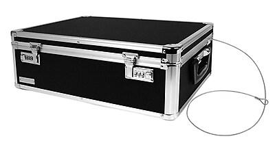 Vaultz® Aluminum Locking Storage Chest With Security Cable, Black