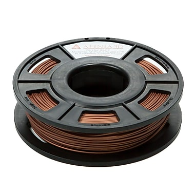 Afinia Specialty PLA Filament for 3D Printers, 1.75mm, 100m (approx. 300g), Copper-Infused, (AFPLA1.75250CPR)