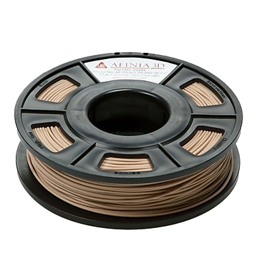Afinia Specialty PLA Filament for 3D Printers, 1.75mm, 100m (approx. 200g), Wood-Infused, (AFPLA1.75250WOO)