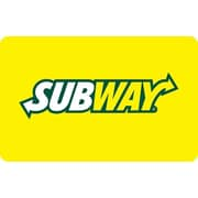 Carte-cadeau SUBWAY® de 25 $