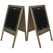 "Cathay Importers Double-Sided Chalkboard Easel Display Stand, 15""W X 18""D X28""H, 2/Set (EC-11-1561)"