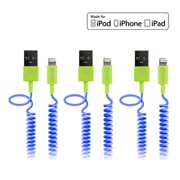 Delton Apple Certified 4FT Lightning Cable, Assorted Colors, 3/Pack (CE17395A)