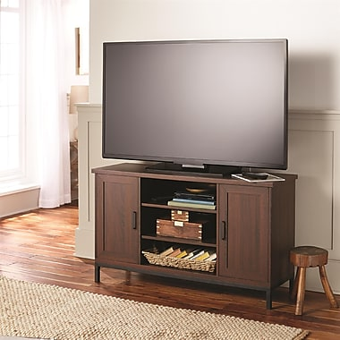 Whalen 2-Door Mixed Material TV Console, Brown Cherry Finish, 47.5