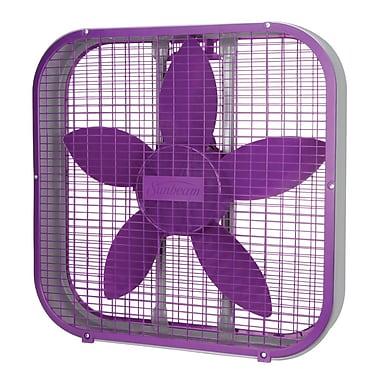 Sunbeam – Ventilateur carré de 20 po, violet (SBF2012PRP-CN)