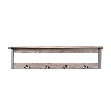Homestar 1-Shelf / 4-Hook Wall Mounted Entry Way Coat Rack, (Z1510464)