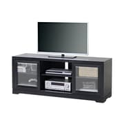 Homestar Sliding Door TV Stand, Black, (Z1510502)