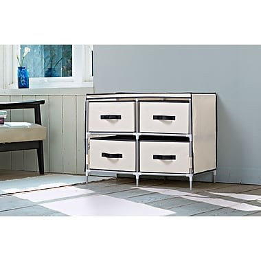 Homestar 4-Drawer Fabric Dresser, Beige, (ZH141796BE)