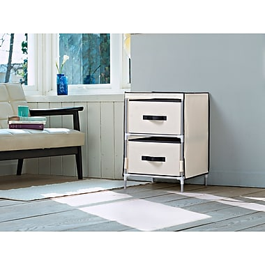 Homestar 2-Drawer Fabric Dresser, Beige, (ZH151950BE)
