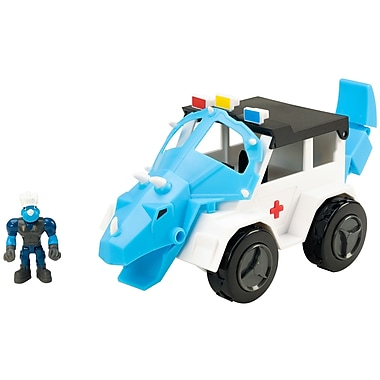 Educational Insights Dino Construction Company™ Rescue Crew Turbo the Triceratops Police SUV (4162)