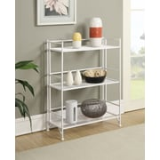 Convenience Concepts Designs2Go Media Towers 3 Tier Wide Folding Metal Shelf White Finish (8019W)
