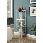 Convenience Concepts Designs2Go Media Towers 4 Tier Folding Metal Shelf White Finish (8017W)