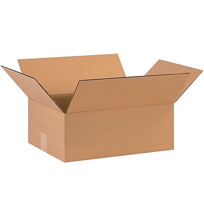 15''x12''x5'' Standard Corrugated Shipping Box, 200#/ECT, 25/Bundle (15125)