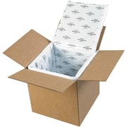 "Deluxe Insulated Box Liners, 12"" x 12"" x 12"", White, 5/Case (179CSL)"