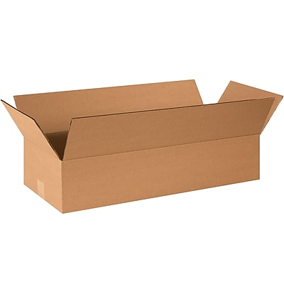 24''x8''x4'' Standard Corrugated Shipping Box, 200#/ECT, 25/Bundle (2484)