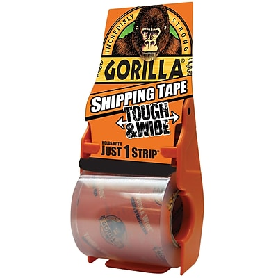 Gorilla Tough & Wide Shipping Tape with Dispenser, 3