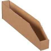 "Partners Brand Open Top Bin Boxes, 2"" x 18"" x 4-1/2"", Kraft, 50/Bundle (BINBWZ218K)"